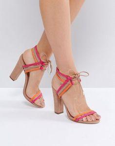 afeb4e61adf Call It Spring Astoressi Brown Block Heeled Sandals at asos.com