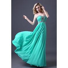 uma linha querida assoalho-comprimento chiffon vestido de baile es012 – BRL R$ 179,82