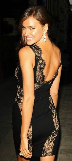 Lovely black lacey fitted dress!