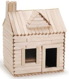 The Best Aspects of Log Cabin Kits - Modern Survival Living Popsicle Stick Crafts House, Popsicle Stick Houses, Craft Stick Projects, Craft Stick Crafts, Pop Stick Craft, Glitter Houses, Popsicles, Home Crafts, Google Search