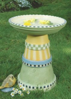 Painted Flower Pot Bird Baths | Projects, Tips & Creative Ideas