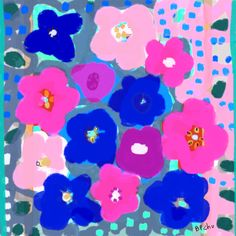 Barbara Perrine Chu-- Big Pink Flowers