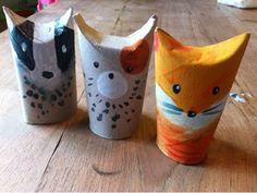 Kleine kunstprojecten voor grote kunstenaars!: Wc-rollenkunst: vos en andere dieren!