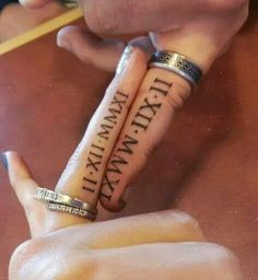 Wedding date couple tattoo