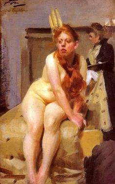 Anders Zorn (1860 - 1920) - In the Studio, 1898.