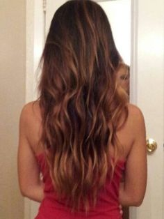 Diy Free Hand Honey Highlights On Brown Hair Using Revlon Frost And Glow My Summer Picture Taken Last Year
