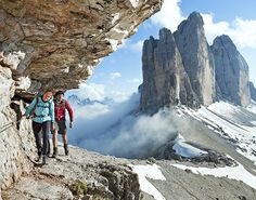 Hiking and History in Italy. Here among the jagged peaks and sheer pastel walls of this ancient range of the Alps, where many cultures had coexisted for centuries, soldiers on both sides built networks of bolted-down steel cables, called via ferrata (iron path), to move supplies quickly—and for other missions, too. ""