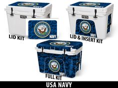 US NAVY USA Tuff Premium Designs Available on All Make/Model Coolers at www.usatuff.com #YETI #RTIC #ORCA #IGLOOSPORTSMAN #GRIZZLY #PELICAN #BISON #K2 #CoolerAccessories