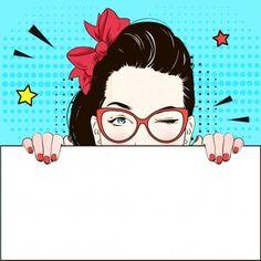 Pop Art Vintage advertising comic poster girl in cat-glasses Yes winks and holds a white flag. Vintage Advertising Posters, Vintage Advertisements, Pop Art Vintage, Pop Art Women, Pop Art Wallpaper, Nail Designer, Pop Art Girl, Pop Art Illustration, Clip Art