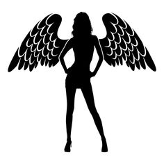 Sexy Angel Die Cut Vinyl Decal PV1221