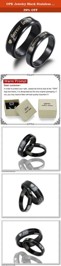 "OPK Jewelry Black Stainless Steel ""Forever Love"" Heart Matching Couples Engagement Wedding Promise Ring Band for Him and Her. Brand name:OPK Condition: 100% Brand new Quantity: 1 pair . Metal:Stainless Steel Gender:Mens and Womens packaging: OPP bag inside,and giving a beautiful box or bag as a gift. More Details: as the pictures show Why choose OPK Jewellery? OPK is a well-known brand in the jewellery field.Its mission is to provide the most fashionable and beautiful and healthy…"