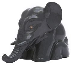 Faberge Kalgan Jasper Circus Elephant Sculpture | From a unique collection of vintage figurines and sculptures at https://www.1stdibs.com/jewelry/objets-dart-vertu/figurines-sculptures/