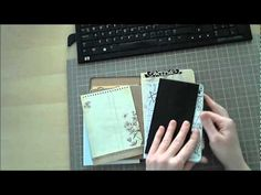 "Link to video. My Smash Book/ Junk Journal Part One of ? Great video for those of us who ""hoard"" crafting supplies, waiting for THE best time to use it - which is invariably never because you worry about not using it ""perfectly"". This video shows you Mini Scrapbook Albums, Mini Albums, Junk Journal, Mini Books, Flip Books, Handmade Books, Handmade Gifts, Glue Book, Mini Album Tutorial"