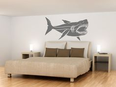 Hey, I found this really awesome Etsy listing at https://www.etsy.com/listing/151097860/wall-decals-huge-40-inch-shark-megalodon