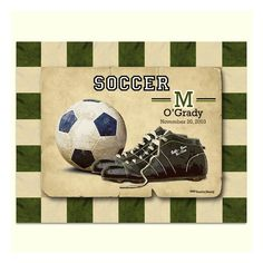 kids vintage sports room | Personalized Vintage Soccer Print - Sports Wall Art for Boys