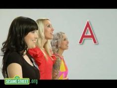 ▶ Sesame Street: ABC Song with Tilly and the Wall - Song is easy to learn and reinforces the letter names and sounds! =)