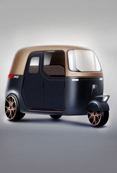 The scadinavian style classic rickshaw - Concept Vehicle - Motorrad Vespa Bike, Electric Cars, Electric Vehicle, Electric Scooter, Panel Truck, Car Design Sketch, Cargo Bike, City Car, Pedal Cars