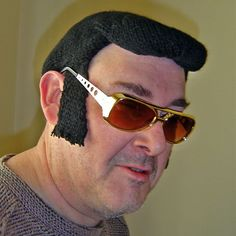 """knitted Elvis wig. """"Why? If you need to ask that, you're on the wring website."""""""