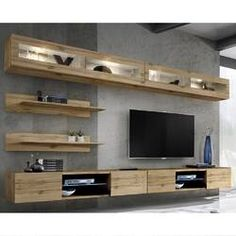 Floating Entertainment Center, Living Room Entertainment Center, Entertainment Units, Living Room Storage, Living Room Tv, Tv Wall Design, High Quality Furniture, Family Room, Entertaining