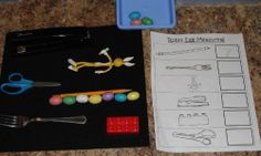 Nonstandard measurement and various other math and literacy spring themed centers