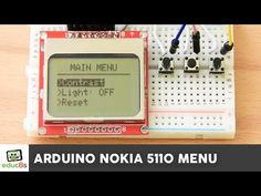 Arduino Tutorial: Menu on a Nokia 5110 LCD Display Tutorial - YouTube