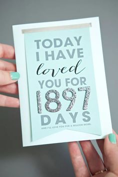 12 Free, Printable Anniversary Cards Stylish Anniversary Cards You Can Print for Free: Today I Have Loved You For… Card by Something T Free Printable Anniversary Cards, Diy Anniversary Gifts For Him, Anniversary Cards For Husband, Anniversary Funny, Wedding Anniversary, Surprise Gifts For Him, Diy Gifts For Him, Diy Love Cards For Him, Valentine Day Cards
