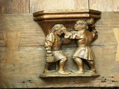 Oude Kerk Amsterdam Small Wooden Shelf, Wooden Shelves, Petite Console, Mercy Seat, Folding Seat, Iglesias, Wood Carvings, Stalls, 15th Century