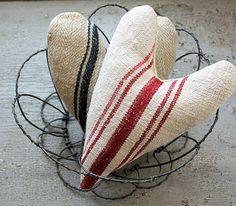 Antique Grain Sack Lavender Sachet