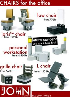 Lego idea chairs for the office