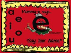 """Mommy E"" ...Pulled directly out of the ""The Secret Stories- Cracking the Reading & Writing Code with the Brain-in-Mind,"" this plump little pack provides EVERYTHING needed to teach the long & short vowel sounds, Mommy E, Sneaky Y, and even Babysitter Vowels and Blends!!! TEACHING THE VOWELS WITH THE BRAIN-IN-MIND...   (Secret Stories; brain-based literacy; reading ; writing; phonics; katie garner)  www.SecretStories.com"