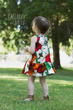 The Charlie dress pattern by Mingo and Grace, as sewn by Tasha Early of Glitter and Wit. Upcycled mama-sized silk dress turned perfectly twirly girl's dress