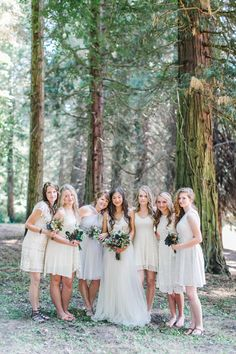 Bridesmaids - Rustic Oregon Summer Wedding from Maria Lamb Photography - marialamb.co | http://www.fabmood.com/rustic-oregon-summer-wedding-maria-lamb-photography/