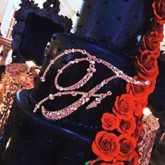 5 Swarovski Mosaic Style Monogram Cake Topper ANY by Chicsparkles Monogram Cake Toppers, Gold Cake Topper, Wedding Cake Toppers, Wedding Cakes, Crystal Cake, Industrial Wedding, Bridal Gifts, Bridal Accessories, Swarovski Crystals