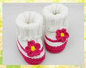 New Style High Quality White Knitting Baby Booties for Snow Day as Newborn Baby Birthday Gift(AYY21)