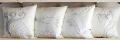 Handmade pillows inspired from Greek history and the natural environment.  Χειροποίητα μαξιλάρια εμπνευσμένα από την ελληνική ιστορία και το φυσικό περιβάλλον.