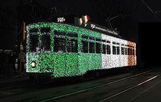 Tram tricolore per i 150° anni dell'unità d'Italia