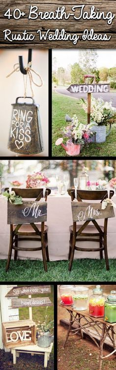 Shine On Your Wedding Day With These Breath-Taking Rustic Wedding Ideas! - Click on the picture to see all the pictures! :)