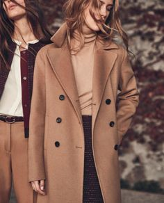 Feb 2020 - Oakey Brown Oversize Pea Coat features an extra loose fit, rounded shoulders, oversize buttons and a long length in a light chestnut brown color. Relax into this oversize pea coat for a look that is casual and cool. Cozy Fashion, Minimal Fashion, Winter Fashion, Women's Fashion, Coats For Women, Jackets For Women, Clothes For Women, Trendy Outfits, Cute Outfits