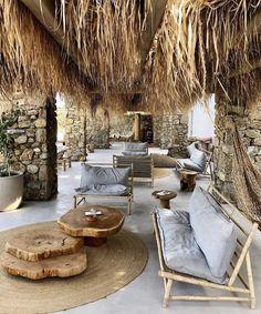 Outdoor Spaces, Outdoor Living, Outdoor Decor, Gazebos, Budget Home Decorating, Mykonos Greece, Villa, Apartment Interior, Boho Decor