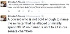 Tweets from Rotimi Amaechi's twitter account - http://www.thelivefeeds.com/tweets-from-rotimi-amaechis-twitter-account/