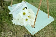 An Old-Fashioned Wooden Swing/love this!