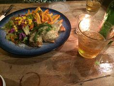 chicken parmigiana from koi restaurant canggu. nice resto in canggu price arround Rp 69000