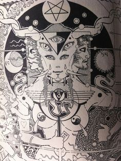 Illustration from Robert Anton Wilson's COSMIC TRIGGER  via BuildersOfTheNewDawn