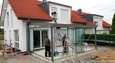 Building A Pergola, Pergola With Roof, Pergola Patio, Backyard Patio, Rooftop Terrace Design, Patio Design, Glass Conservatory, Garden Room Extensions, House Extension Design