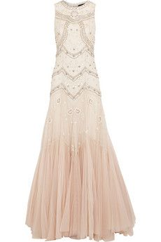Needle & Thread | Sequin-embellished crepe and tulle gown | NET-A-PORTER.COM
