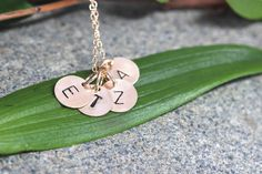 SALE Four  Initial Charms Gold NecklaceCustom by rainbowearring, $39.00