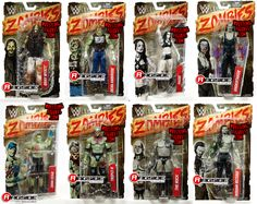 WWE Zombies 1 - Complete Set of 8 WWE Toy Wrestling Action Figures by Mattel Includes John Cena, The Rock, Triple H (HHH), Undertaker, Bray Wyatt, Dean Ambrose, Paige & Roman Reigns