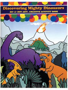 Mighty Dinosaurs coloring book is perfect for Do A Dot Markers #dinosaurs #coloring #kids #books