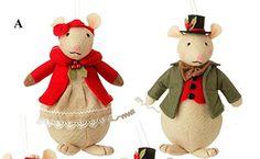 RAZ Sageberry Mouse Ornaments
