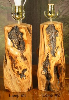 Log Lamp Pair